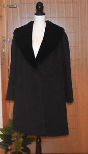 St Michael Vintage Ladies  Wool Cashmere Oversized Coat / Cape UK12 / EU 40
