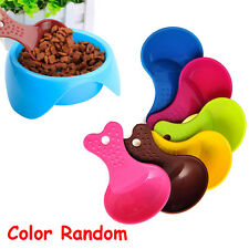 2 PCS Ramdom Pet Supplies Cat Puppy Shovel Resin Plastic Food Spoon Dog Feeder