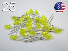 25pcs 3mm Yellow/Amber Diffused LED - Round - New Light Emitting Diode DIY RC