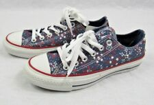 Converse Chuck Taylor All Star Women's Fireworks SZ 6.5 Red White Blue Ox Studs