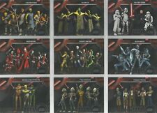 "Star Wars Galactic Files 2018  - ""Sinister Syndicates"" 15 Card Chase Set #SS1-15"