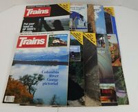 Trains The Magazine Of Railroading Lot Of 10 1989