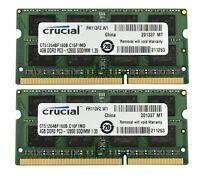 Crucial CT51264BF160B 8GB 2X4GB PC3 12800 DDR3 1600 DDR3 SO DIMM APPLE MAC ETC