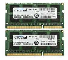 Crucial CT51264BF160B 8GB 2X4GB PC3 12800 DDR3 1600 DDR3 SO DIMM APPLE MAC ETC