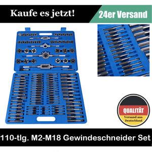 110tlg Gewindeschneider SET M2-M18 Fein Gewinde Schneider Bohrer Werkzeug SUPER