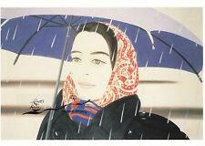 Kunstkarte:  Alex Katz - Blauer Regenschirm