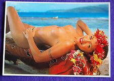 Nude Topless Tahiti Tahitian Hawaii Hawaiian Hula Polynesian Islander Girl PC #3
