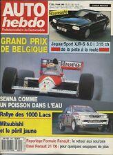 AUTO HEBDO n°691 du 30 Août 1989 GP BELGIQUE JAGUAR XJR6 6.0 1000 LACS