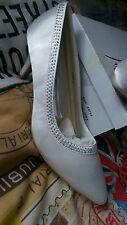 Anne Michelle by Spot on Women's Diamante Trim Wedding Court Shoes 7 UK 40 EU