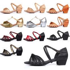 Dance Shoes For Women Girls Child Ballroom Latin Tango Indoor Heel Dancing Shoes