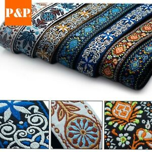 1*Guitar Strap Embroidered Adjustable Woven Bass Electric Acoustic Guitars Newly