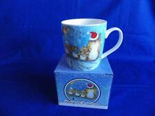 CHRISTMAS OWLS MUG BY JAN PASHLEY ( HAVE A HOOTFUL CHRISTMAS )