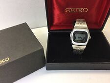 NOS 0533-5020 1976 SEIKO LC Quartz LCD Digital watch Box set uhr Vintage MOT