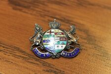 VINTAGE STERLING PIN WITH PROVINCIAL CREST AND BRITISH CROWN DIEU ET MON DROIT
