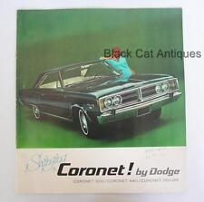 1969 Chrysler Swinging Coronet Deluxe 500 440 Coronet Deluxe Brochure Condition