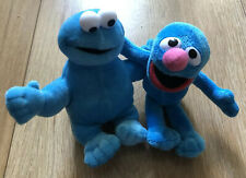 "2 X GUND Sesame Street 6"" / 15cm Plush Soft Toys Cookie Monster & Grover New"