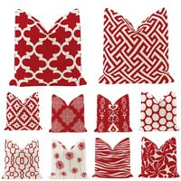 Geometric red super soft pillowcase sofa cushion cushion cover home pillowcase