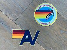 AVIATOR NATION STICKER Surfer + AV Logo Vinyl Waterproof Decal Set - Malibu CA