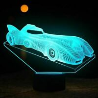 Batmobile Illusion LED Lamp, 3D Light Experience - 7 Colors Options