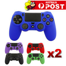 2x Soft Silicone SKIN Gel Cover Case for Sony Playstation PS4 PS 4 Controller