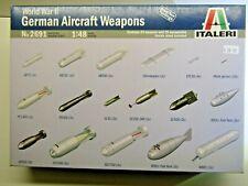 Italeri 1:48 Scale WWll German Aircraft Weapons Model Kit - New - Kit # 2691