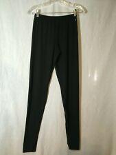 EUC DANSKIN NOW BLACK WOMEN'S SIZE SMALL 4/6 ELASTIC WAISTBAND LEGGINGS PANTS