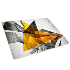 Yellow Black White Glass Chopping Board Kitchen Worktop Saver Protector