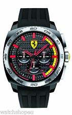 NEW SCUDERIA FERRARI 0830202 MENS AERODINAMICO WATCH - 2 YEARS WARRANTY