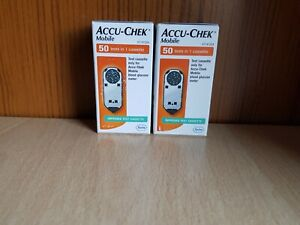 2 X Accu Chek Mobile Test Cassettes (100 Tests)