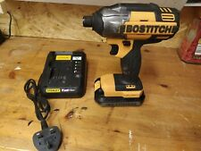 Bostitch Impact Driver 18v with 1 battery and Stanley charger