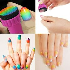 HOT 5pcs Magic Nail art Sponge Gradual Change Stamper Polish Stamping Manicure
