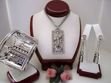 "Brighton ""CITY GLAM""  Necklace-Earring-Bracelet Set (MSR$212) NWT/Pouch"