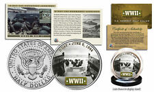WWII * D-Day Normandy Landings *  Kennedy Half Dollar U.S. Coin w/ Fact Card