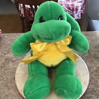 Build A Bear Turtle with Backpack Shell Hidden Pocket Plush Stuffed Animal Green