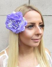 Large Light Lilac Purple Dahlia Flower Hair Clip Rockabilly 1950s Rose Big 1555
