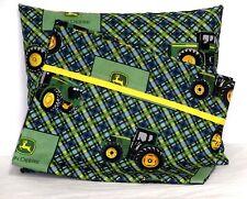 John Deere Toddler Pillow & Pillowcase set on Blue Cotton JD17-15 New Handmade
