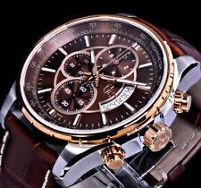 GC Guess Collection Herren Armband Uhr Rosegold Silber Farben Leder Braun Chrono