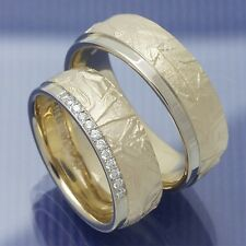 Eheringe | Trauringe | Hochzeitsringe aus 585 Apricotgold und Weissgold P6149069