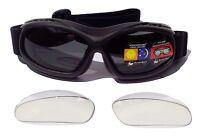 EVADER 1 [OTG] Over The Glasses Motorcycle Biker Goggles | Interchangeable Lens