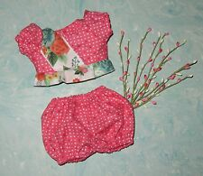 "Handmade Doll Clothes for 11"" - 13"" Baby Dolls - ""Secret Garden"" 2-pc Play Set"