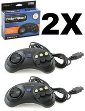 RetroBit RetroPad Gamepad Controller for Sega Genesis Mega Drive 6 Buttons