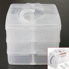 Scatola Rimovibile Trasparente Plastica 18 Scomparti 3 Strati Salvaspazio