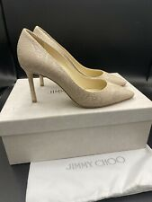 Jimmy Choo 'Romy' 85 Nude Serpiente Tribunal Tacones bombas Stiletto Size UK 3.5 EU 36.5