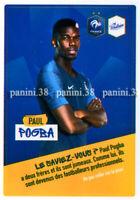 "RARE !! Sticker PAUL POGBA ""EQUIPE DE FRANCE 2020"" like Panini Poulain"