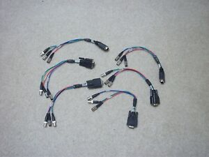 AutoPresenter / ControlVIEW XHD Y-C and Composite Cable 1 ft. DB15-3 BNC Female