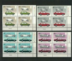 GB545) Great Britain 1982 Cars MUH blocks of 4