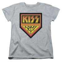 KISS Rock Band ARMY LOGO Licensed Women's T-Shirt All Sizes