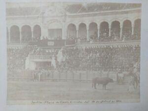 Foto Albúmina Sevilla Plaza de Toros Corrida del 12 de Abril 1885 Emilio Beauchy
