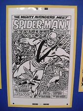 Production  Art  DON HECK  Avengers #11 Splash page w/cover & page prints matted