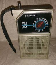 Sanyo Vintage AM/FM Portable Radio Model No. RP5047A Prop